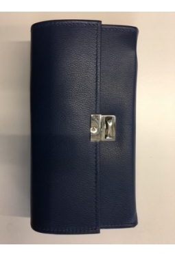 Service Portemonnaie Leder, Blau