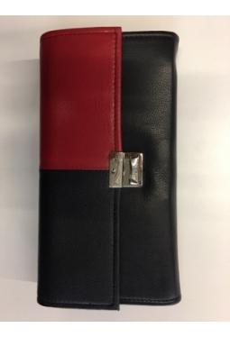 Service Portemonnaie Leder, Rot-Schwarz