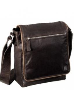 Schultertasche Leder Vintage Two, Brau..